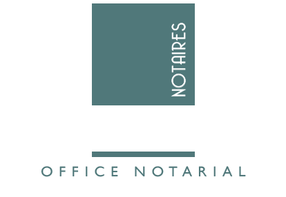 logo notaires 1804 rouen luciline blanc